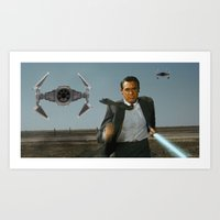 Run Jedi Run (North by Northwest) Art Print
