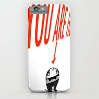 iPhone & iPod Case featuring You Are Here by Richard J. Bailey