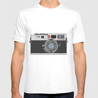 Camera, 2 Mens Fitted Tee White SMALL
