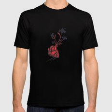 Love Grows SMALL Black Mens Fitted Tee