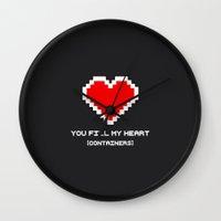 You Fill My Heart (Conta… Wall Clock