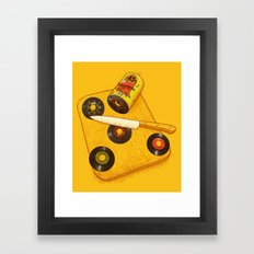 45 rpm Deli Framed Art Print