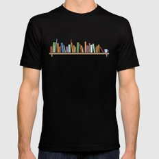 Books SMALL Mens Fitted Tee Black