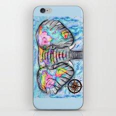 wanderlust elephant map watercolor travel art iPhone & iPod Skin