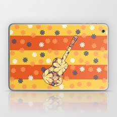 Floral guitar and stripes Laptop & iPad Skin