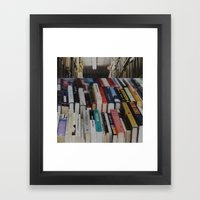 Books On Books Framed Art Print