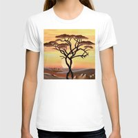 africa T-shirts featuring Africa by ArT RefugiuM