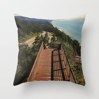 Lake Michigan Overview -… Throw Pillow