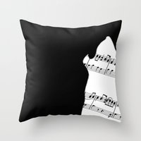 The Wolf Howls Throw Pillow