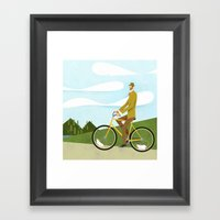 Road Cycling With Rodent… Framed Art Print