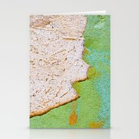 Green wall :: White wall Stationery Cards