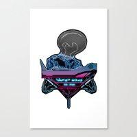 Futuristic DJ Canvas Print