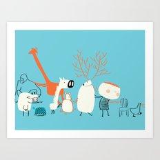 Chair's game Art Print
