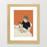 Foodporn Framed Art Print