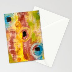 Fall Colours Abstract Stationery Cards
