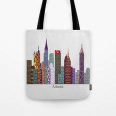 Atlanta city skyline  Tote Bag
