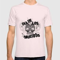 Dia De Los Muertos Mens Fitted Tee Light Pink SMALL