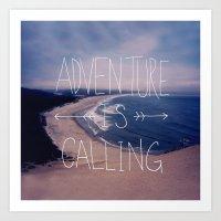 Adventure is Calling Art Print