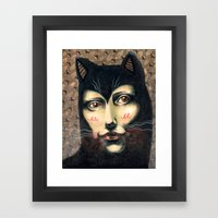 Cat Story Framed Art Print
