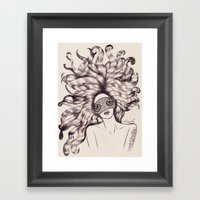 Worship to the land, A girl from the planet VENUS Framed Art Print