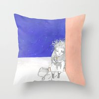 La pequeña vendedora de cerillas Throw Pillow