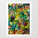 Sparkling Rainbow Bubbles Art Print