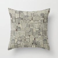 Windows Umber Throw Pillow