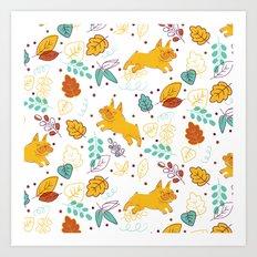 Frenchie Pattern Art Print