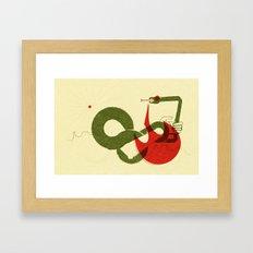 Viper Bite (by Scotty Reifsnyder) Framed Art Print