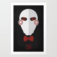 Saw Minimalist Poster 01 Art Print