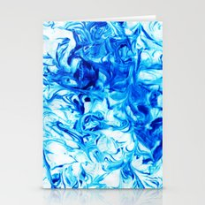 Blue Lagoon Marble Print Stationery Cards