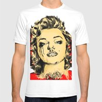 Mirror Monroe Mens Fitted Tee White SMALL