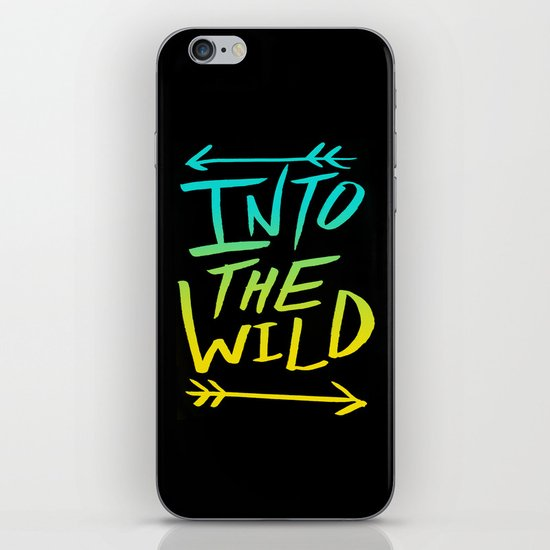 Into The Wild: Typography iPhone & iPod Skin