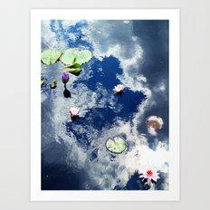 Water Lily Sky Art Print
