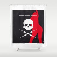 No018 My DeathProof minimal movie poster Shower Curtain