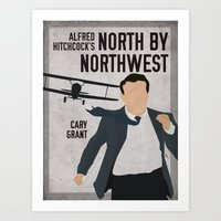 Alfred Hitchcock's North By Northwest Movie Print Art Print