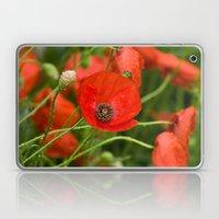 Wild Red Poppies Laptop & iPad Skin