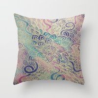 Throw Pillow featuring Blooming by Renee Trudell