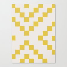 Tiles - in Dandelion Canvas Print