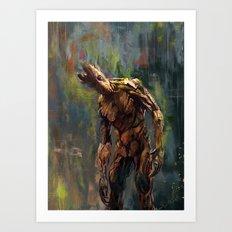 I Am Groot! Art Print