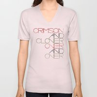 Crimson And Clover Over … Unisex V-Neck