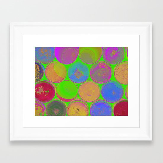The Lie is a Round Truth 2 Framed Art Print