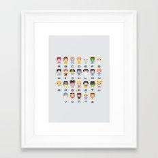 Princess Alphabet Framed Art Print
