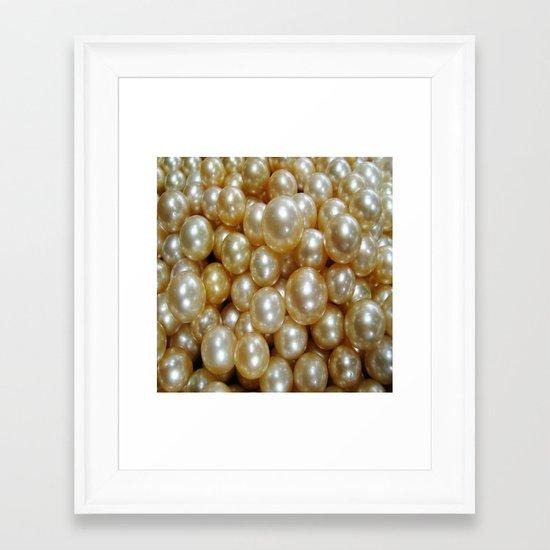 Pearls Framed Art Print