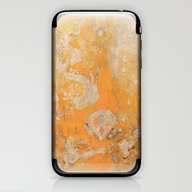 iPhone & iPod Skin featuring Fire Skull I Part I by Kid Doom