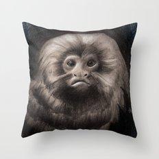 Golden Lion Tamarin Throw Pillow