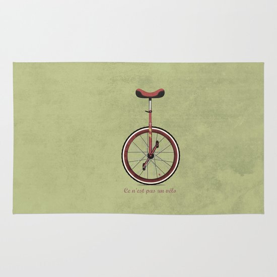 Unicycle Area & Throw Rug
