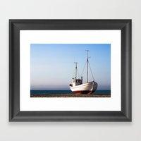 Fishing Boat Pulled Up O… Framed Art Print