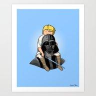Number One Dad (Vader) Art Print
