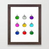 Colorful Christmas Baubl… Framed Art Print
